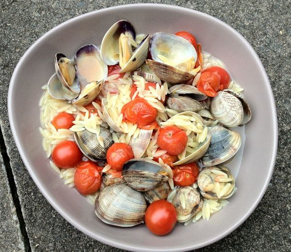 Orzo with Clams and Tomatoes