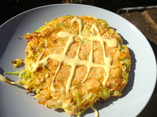 Scallion and Potato Okonomiyaki