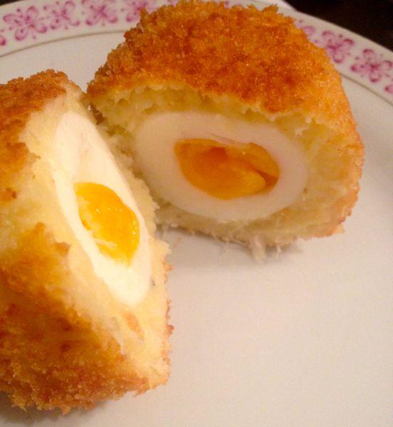 Salt Cod Scotch Egg
