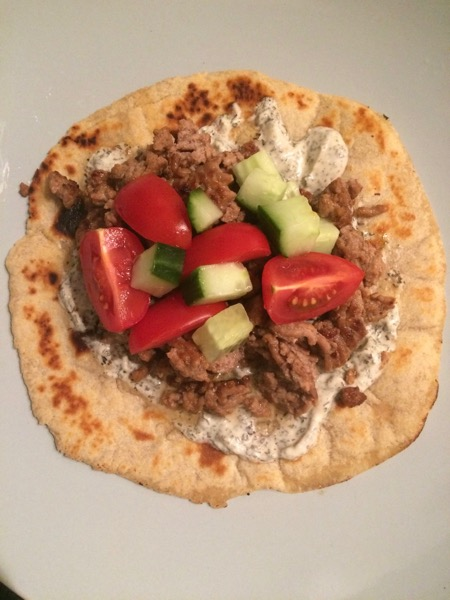 15 Minute Lamb Mince Flatbread